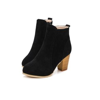 Musim Gugur Musim Dingin Boots With High Heels Boots Sepatu Martin Boots Wanita Ankle