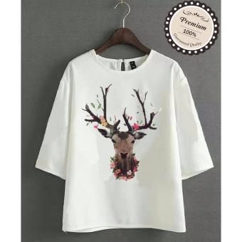 Ayako Fashion Atasan Wanita Blouse Dear - (White) - AY