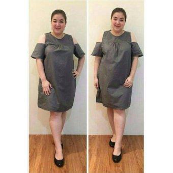 Nope Usa Made Atasan Dress Baju Wanita Ld028 Biru Tua Theme Park Source · Ayako Fashion Dress Wanita Lina Jumbo Grey