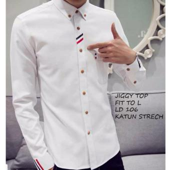 ... Review 369 Kemeja Gyna White Paling Mudah Pricing and Comparison Source Azure Fashion JUSTIN TOP WHITE