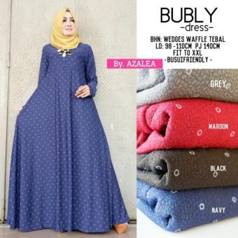 Kehebatan Baju Gamis Long Dress Maxi Wanita Muslim Motif Bubly Fit