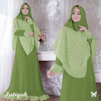 Baju Gamis Muslim Syari Fashionable - Gamis Fatiyah syari Green
