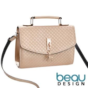 BEAU Tas Wanita Import Kulit Batam Branded Selempang Terbaru Deer PU  Leather Top Handle Sling Women 9aa096f371