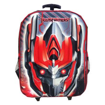 BGC Transformer Optimus Prime 3D Hard Cover Tas Troley T Sekolah Anak - Merah