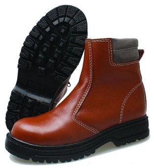 BSM Soga BSM 305 Sepatu Safety Boots Pria Kulit Asli Gagah - Tan