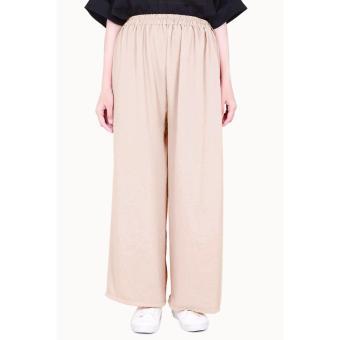 Cotton Bee Apparel Pallazo Cullote Pants - Cream