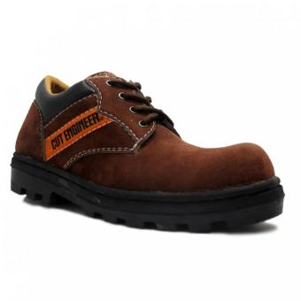 Cut Engineer Safety Shoes Low Boots Classic Soft Brown