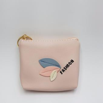 Dompet Koin Premium Quality PU Leaf - Pink