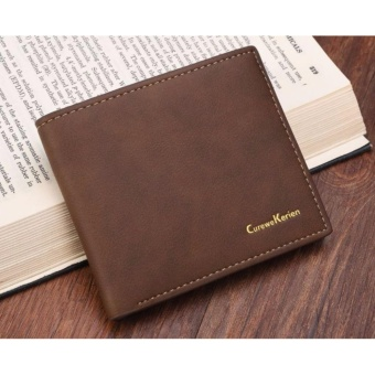 ... Pu Leather Source · Dompet Pria Kulit Fashion Import Bifold Casual Purse Clutch Bag Leather Wallet Short Business Coklat