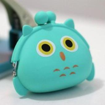 EL Silicone Coin Pouch Dompet Koin Lucu jelly silicone Dompet Silicone Tas Koin Uang Receh Dompet Karet Dompet Uang Receh Dompet Murah Super Best Seller - Owl