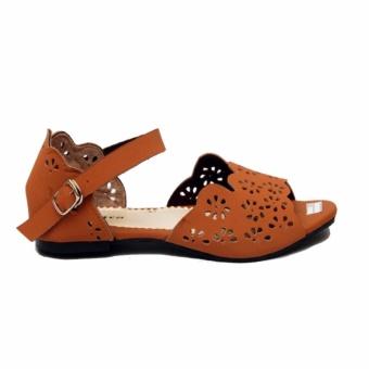 Ellen Grosir Sandal Flat Wanita ST.09 - Tan