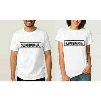 ELLIPSES.INC Tumblr Tee / T-Shirt / Kaos Couple Sudah Bahagia - Putih
