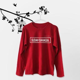 ELLIPSES.INC Tumblr Tee / T-Shirt / Kaos Wanita Lengan Panjang Sudah Bahagia