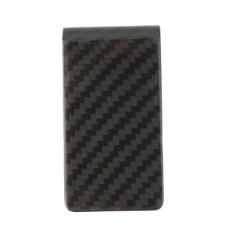 ERA Carbon Fiber Money Clip Matte Black Credit Card Holder Money Wallet Black - intl
