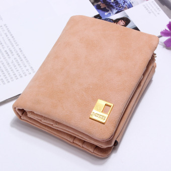 Fashion Women Purse Leather Lady Handbag Wallet Button Clutch Card Case Coin Bag Pink - intl