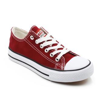 Faster Sepatu Sneakers Kanvas Wanita 1603-03 - Maroon