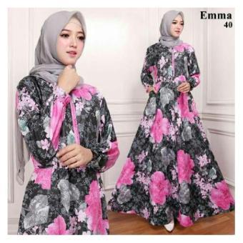 Gamis Maxi Dress Emma40 Warna Fanta (Tanpa Pasmina)