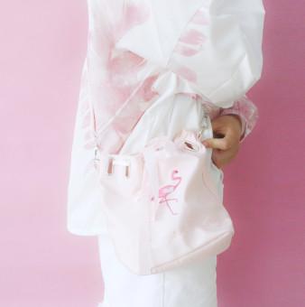 Harajuku Tas Bucket Gaya Jepang Wanita Soft Tas Selempang Bahu (Merah Muda Warna)