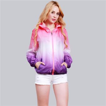 Hengsong Pria Wanita Fashion Langsing Olahraga-Luar Keramaian Pakaian Rak  Berlengan Panjang Sinar UV Wanita 2339352b4b