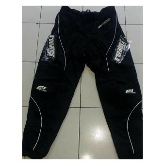 Harga Terbaru Celana Cross Traill Adventure Downhill Motocross Panjang Onealmx XXL / 36(hitam)