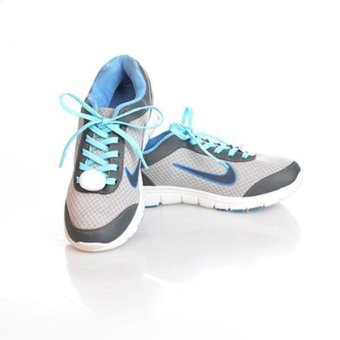 LALANG Luminous Shoelace Color Fluorescence Shine Your Shoes Blue (Intl)