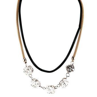 1702k023 Modern Source Necklace Accessories Panjang 50 Cm Emas Emas Ofashion Aksesoris Kalung .
