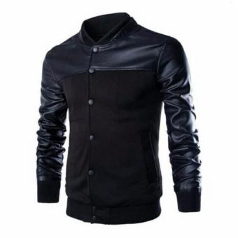 Jaket Pria Baseball Jacket Mens Black Coat Varsity