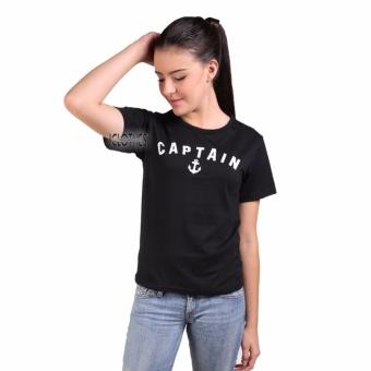 JCLOTHES Kaos Cewe / Tumblr Tee / Kaos Wanita Captain - Hitam