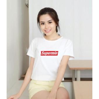 KaosBro - Kaos Cewek / T-Shirt Wanita / Tumblr Tee - Supermie - Putih
