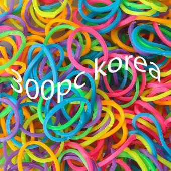 karet ikat rambut anak korea isi 300pcs Neon Mix