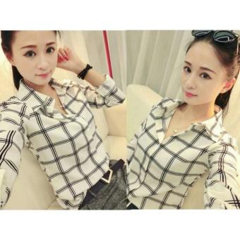 Kedai_baju Blouse Murah / Atasan Wanita / Kemeja Yumi - Putih