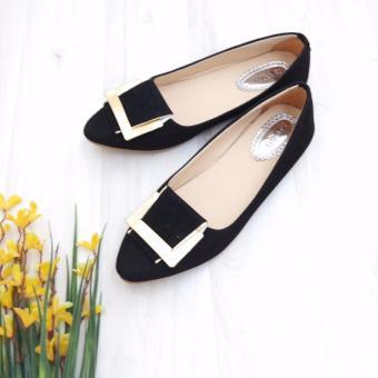 Bebbishoes-Belt Flatshoes-Hitam