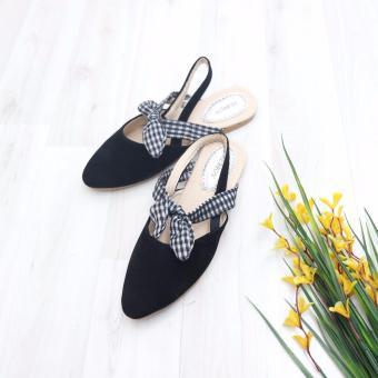 Bebbishoes-Tartan Flatshoes-Black