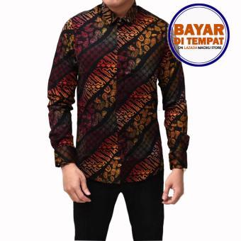 Kemeja Batik Pria Lengan Panjang Batik Songket Long Gradation