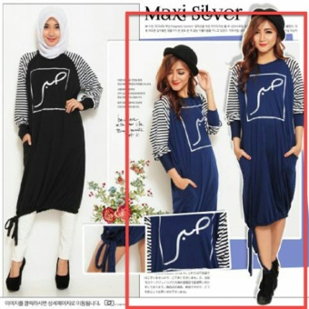 UC Kemeja Blouse Tunik Wanita lengan Panjang / Baju terusan / Long Hem / Dress Muslim