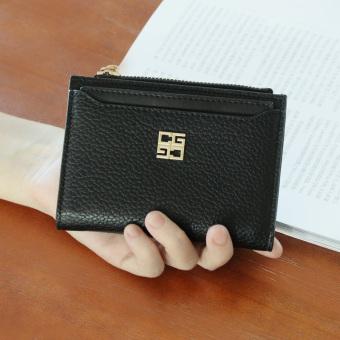 Dompet Kecil Korea Fashion Style Mini Dompet Wanita Baru (Hitam)
