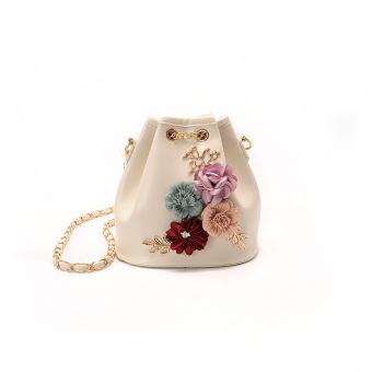 Korea Fashion Style Tali Serut Stiker Bunga Jinjing Sabuk Tas Bahu Dengan Satu Tali Messenger Tas