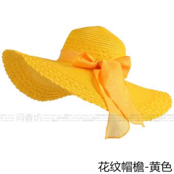 Topi Pantai Korea Fashion Style Wanita Topi Sulap Anti Sinar Ultraviolet Pelindung  Terik Matahari (Pola 634c669f96