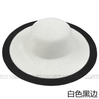 Topi Pantai Korea Fashion Style Wanita Topi Sulap Anti Sinar Ultraviolet Pelindung Terik Matahari (Putih