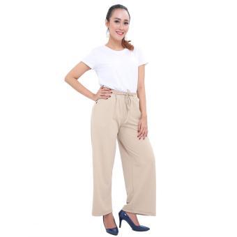 LEMONE Cullote Pants / Celana Kulot Wanita - Krem