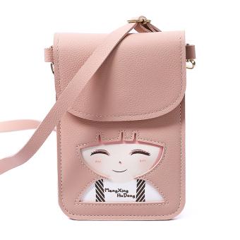 Linjiaxiaofei Korea Fashion Style Mini kasual tas bahu tas tas kecil (Merah  muda) b0459b808bb4