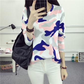 Xianyafu Korea Fashion Style Baru Yard Besar Katun Leher Bulat T Source · Longgar Korea Modis