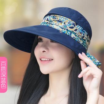 Matahari Topi Pelindung Sinar Matahari Wanita Topi Pantai Luar Rumah Musim Panas  Pelindung Terik Matahari ( 30b3e84e2a