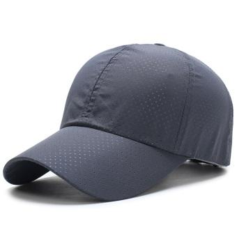 Topi Baseball Jaring Pria dan Wanita Topi Matahari Luar Rumah Bernapas  (Abu-abu Gelap 07efb276e1
