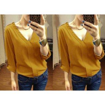 mamamia collection - blouse wanita xara mustard