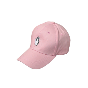 Baru Fashion Wanita Pria Pola Kancing Warna Solid Bordir Topi Baseball  Datar Hip-pop Cap 62a4abe15d