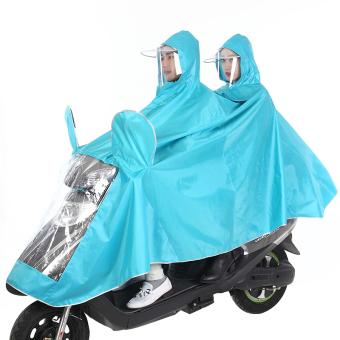 Wanita Sepeda Listrik Dewasa Dua Orang Jas Hujan Mobil Listrik Jas Hujan (Ada Cermin Set