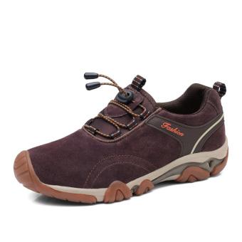 Pria Sepatu Hiking Fashion Pria Hiking Sepatu Mendaki Gunung Trekking Sepatu Anti-slip Pria Olahraga