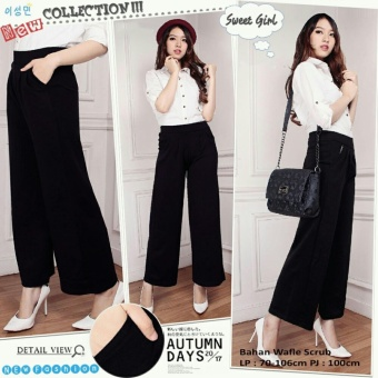 SB Collection Celana Oneblack Kulot Long Pant-Hitam
