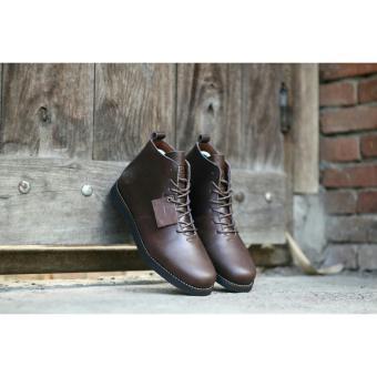 Sepatu Boots Bradley Houbis Kulit Full Up